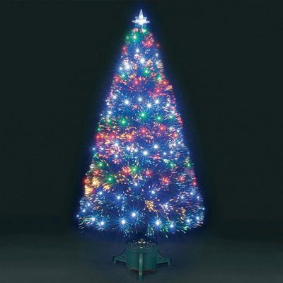 Jingles 7ft Quantum Multi-Coloured Fibre Optic Christmas Tree - Buy Jingles 7ft Quantum Multi-Coloured Fibre Optic Christmas Tree