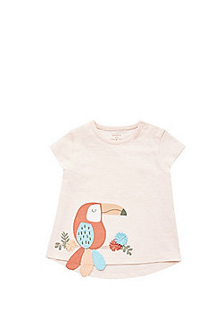 F&F Toucan Applique T-Shirt - Peach