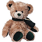 30cm Gund velvetino bear with green scarf Soft Toy
