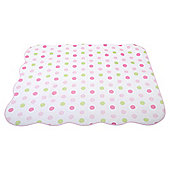 Elephant Spot Baby Coverlet Pink