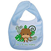 Dirty Fingers I'm a Funky Monkey Baby Cute Bib Blue