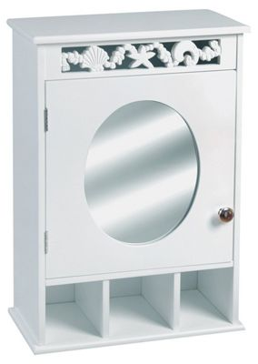 Ellsworth Bathroom Wall Mirror & Storage Cabinet - White
