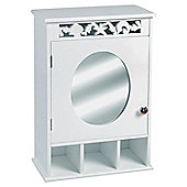 Ellsworth Bathroom Wall Mirror & Storage Cabinet - White