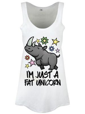 I'm Just A Fat Unicorn Floaty White Women's Vest