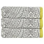 Kingsley Home Damask Bath Towel Silver