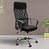 HOMCOM High Back Mesh Chair-Black