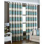 Riva Home Horizon Eyelet Curtains - Duck egg