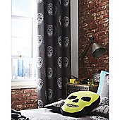 Catherine Lansfield Kids Skulls Eyelet Curtains - 66x72 Inches (168x183cm)