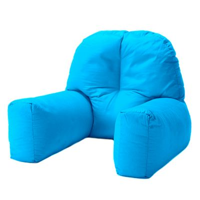 Turquoise Cotton Twill 'Chloe' Bean Bag Back Rest Reading Cushion