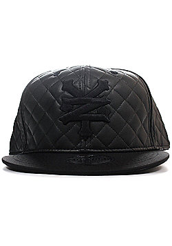 Zoo York Quilted Snapback Mens Skate Baseball Cap Hat - Black