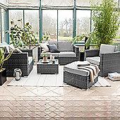 Nova - Lyon 2 Seat Outdoor Garden Rattan Sofa Set - Grey