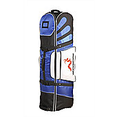 Woodworm Deluxe Golf Bag Travel Cover With Wheels Blue / Black