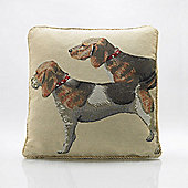 Alan Symonds Tapestry Hounds Cushion Cover - 45x45cm