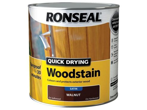 Ronseal QDWST250 250ml Woodstain Quick Dry Satin - Teak