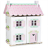 Le Toy Van Traditional Wooden Dolls House - Sweetheart Cottage (with Furniture)