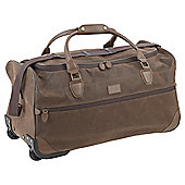 Tesco Textured Wheeled Brown Holdall