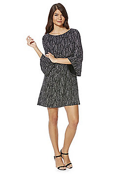 F&F Sparkle Bell Sleeve Dress - Silver