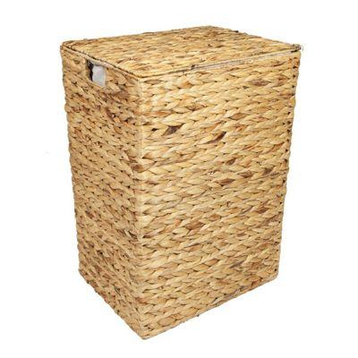 Woodluv Water Hyacinth Laundry Storage Basket - Large