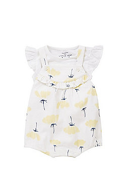 F&F Buttercup Print T-Shirt and Romper Set - White/Yellow