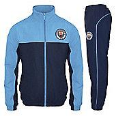 Manchester City FC Mens Tracksuit - Blue