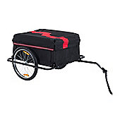 Homcom Folding Bike Trailer Cargo in Steel Frame Storage Carrier (Red and Black)