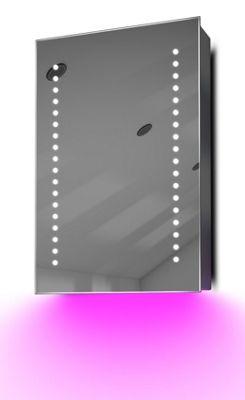 Demist Cabinet With LED Under Lighting, Sensor & Internal Shaver Socket K345p
