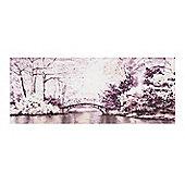 Art for Home Watercolour Forest Bridge Canvas