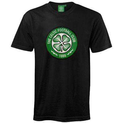 Celtic FC Mens T-Shirt Black Small