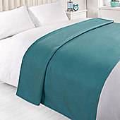 Wholesale 10 x Plain Fleece Blanket Soft Warm Sofa Throw Over 120 x 150cm Joblot - Teal