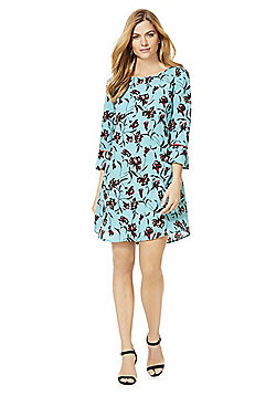 Vila Floral Print 3/4 Sleeve Dress - Multi