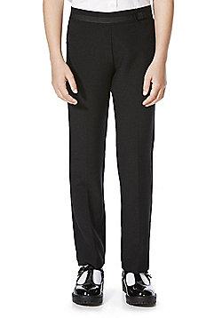F&F School 2 Pack of Girls Bow Trim Trousers - Black