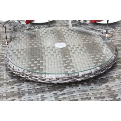 Bermuda Outdoor Grey Rattan Lazy Susan