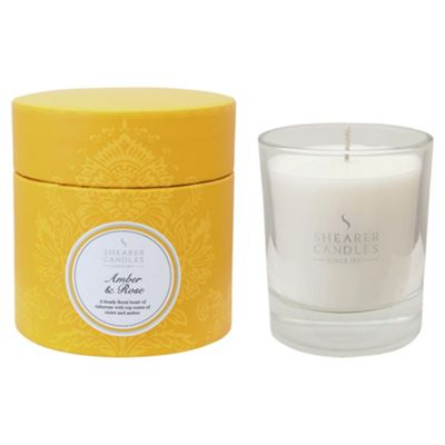 Shearer Amber & Rose Filled Candle