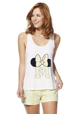 Disney Minnie Mouse Vest and Shorts Pyjama Set Yellow Multi 6