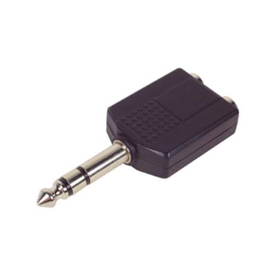 Two 1/4ö Mono Sockets to 1/4ö Stereo Plug