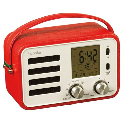Technika RAD 11202R Liverpool Retro Radio Red