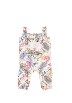 F&F Tropical Floral Print Slouch Romper Multi 3-6 months