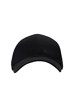Mountain Warehouse Mens Summer Hats with 100% Cotton Twill Design and Breathable - Black