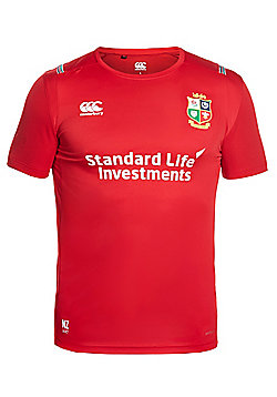 Canterbury British & Irish Lions Vapodri + 'Superlight' Kids Poly Small Logo Tee 16/17 - Tango Red - Red