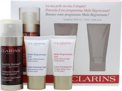 Clarins Skincare Gift Set 30ml Double Serum + 15ml Extra-Firming Day Cream + 15ml Extra-Firming Night Cream