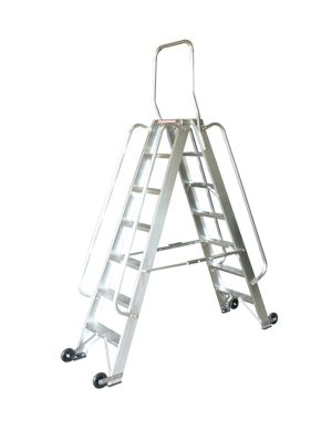Heavy Duty 5 Tread Double Sided Stock Picking Step Ladder