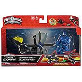 Power Rangers Ninja Steel Mega Morph Copter With Blue Ranger