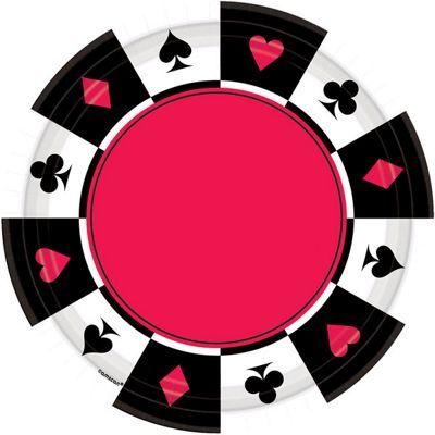Casino Plates - 26cm Paper Party Plates