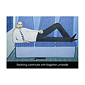 Holy Mackerel Reclining commuter Greetings Card