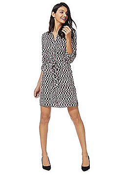 F&F Geometric Print Shirt Dress - Multi