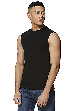 F&F Jersey Muscle Top - Black
