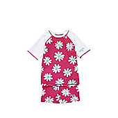 Babeskin Floral UPF 50+ Protection Rash Vest and Shorts Set - Pink