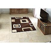 Retro Squares Runner - Brown