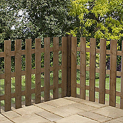 Mercia Palisade Picket Fence 3ft Flat Top Dipped