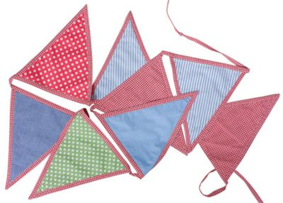 Bedroom Bunting- Blue & Red